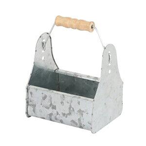 ダルトン DULTON ガーデニング用品 道具入れ ミニツールボックス アンティーク風 園芸 ( ツールトレイ ツールトレー ツールボックス 工具入れ ツール 収納 ブリキ 取っ手付き 持ち運び おし