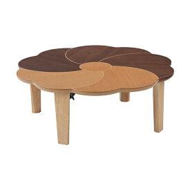 座卓 ローテーブル 円卓 折れ脚 花音 直径100cm ( 送料無料 テーブル ちゃぶ台 リビングテーブル センターテーブル 机 つくえ 和風テーブル 座卓テーブル 折りたたみ 折りたたみテーブル 木製 )