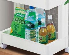 壁面収納キッチン収納スリムスマートワゴン4段プラスチック製組立式