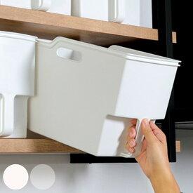 キッチン収納ケース 吊り戸棚ボックススリム 幅18.5cm ( 収納ボックス 整理ケース 取っ手付き 戸棚収納 収納BOX 収納ストッカー キッチンストッカー 吊戸棚用 収納 収納カゴ キッチン収納 プラスチック 収納用品 マルチ収納 )