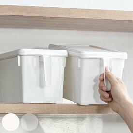 キッチン収納ケース ストックハンドルボックス フタ付き 幅15.7cm ( 収納ボックス 整理ケース 取っ手付き 戸棚収納 収納BOX 収納ストッカー キッチンストッカー 蓋付き 収納カゴ キッチン収納 プラスチック 収納用品 マルチ収納 )