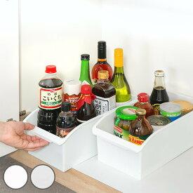 キッチン収納ケース ストックボックス コロ付き 幅19.1cm クリア ( 収納ボックス 整理ケース シンク下ボックス 引き出し 引出し スライド シンク下収納 収納ケース 収納BOX 収納ストッカー キッチンストッカー プラスチック )