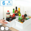 キッチン収納ケース ストックボックス コロ付き 幅19.1cm 6個セット ( 収納ボックス 整理ケース シンク下ボックス シ…