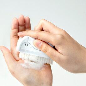 ハンドブラシ ナイロン +QQ 日本製 ( 手洗いブラシ ネイルブラシ 衛生用品 爪 手指 清潔 ツメ 間 飲食店 厨房 作業 爪の間 ふち 身だしなみ用品 ハード かため )