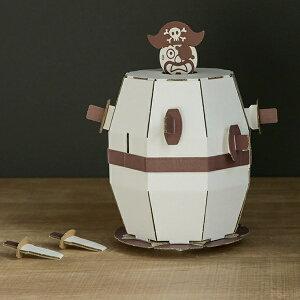 ダンボール おもちゃ 飛び出せ海賊くん WOWシリーズ 工作 組立 ( 工作キット ペパークラフト ペーパーアート キット 段ボール 組み立て 作る 簡単 リサイクル エコ 立体的 本格的 お絵描き