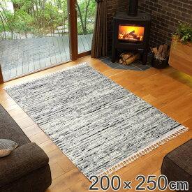 ラグ ウィルトンラグ BILBAO ボニー 200×250cm ( 送料無料 エントランスマット 玄関ラグ マット インテリアマット 折りたためる コンパクト 収納 柔らかい 耐久性 フリンジ付き ホットカーペット対応 床暖対応 絨毯 カーペット )