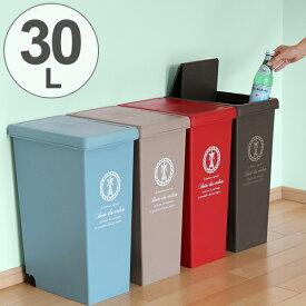 ゴミ箱 30L ふた付き スライドペール 30リットル ( ごみ箱 フタ付き ダストボックス キッチン スリム プラスチック 30l ペール 角型 縦型 分別ゴミ箱 蓋付き ふた付き おしゃれ )