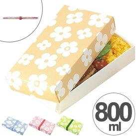 折り畳みランチボックス 一段 800ml ネイチャー 日本製 スリム ( お弁当箱 ランチボックス サンドイッチケース 折りたたみ式 弁当箱 コンパクト 電子レンジ対応 ラッピングボックス ギフトボックス 持ち帰り箱 )