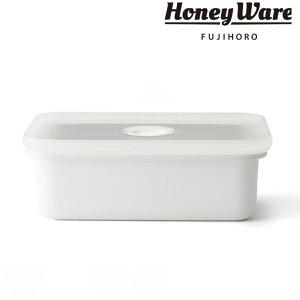 バターケース ホーロー製 200g HoneyWare 富士ホーロー ( バター容器 バター保存 バター用ケース 保存容器 ホーロー容器 琺瑯容器 琺瑯製品 角型容器 スクエア フードコンテナ 食品保存 おしゃ
