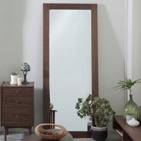 立て掛けミラー 姿見 クラシック調 emo 幅62cm ( 送料無料 一面鏡 鏡 かがみ 化粧鏡 化粧ミラー ミラー 天然木 木製 ウオールナット シンプル 立て掛け 立掛け 大型ミラー 全身 寝室 リビング 玄関 )
