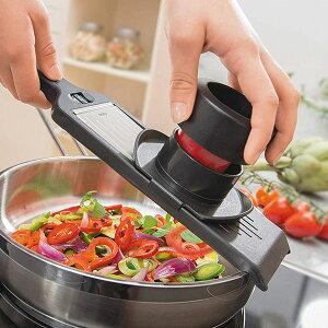 スライサー 2WAYスライサー VIOLI GEFU ( 送料無料 スライス 千切り 野菜スライサー 野菜カッター 厚さ調節 厚み調節 ハンドホルダー付き 替え刃付き キッチンツール 下ごしらえ ベジタブルス