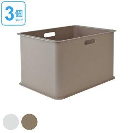 収納ケース カラーボックス用 収納ボックス 深型 プラスチック製 日本製 同色3個セット ( 収納 衣類収納 カラーボックス インナーボックス 小物収納 軽い 軽量 プラスチック 横置き おもちゃ箱 積み重ね スタッキング 小物入れ インナーケース )