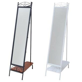 Stand mirror mirror hanger rack iron series  full-length mirror hanger  hanger body Princess series retro black and white antique