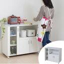 カウンターボード 戸棚 キッチン収納 SIM 幅90cm ( 送料無料 キッチンカウンター レンジ台 カップボード ホワイト 炊飯器 キャビネット )