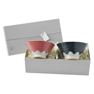 夫婦茶碗 富士山 ペアセット 茶碗 飯碗 日本製 陶器 ( 食器セット ペア お茶碗 セット 夫婦 ライスボウル 富士山型 ご飯茶碗 富士 おしゃれ かわいい プレゼント ギフト )