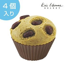 マフィン型 丸型 4個入 シリコン製 ( マフィンカップ シリコン型 カップ 製菓道具 製菓 マリン ディップカップ ケーキ型 )