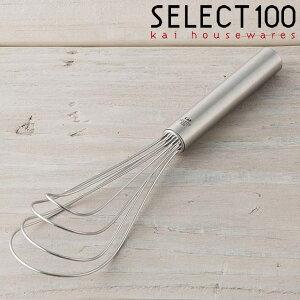 ターナーウィスク ステンレス 貝印 セレクト100 ウィスク ( SELECT100 ターナー フライ返し ステンレス製 製菓道具 調理小道具 下ごしらえ用品 ホイッパー ステンレスホイッパー ステン