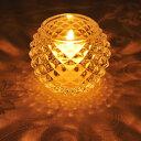 キャンドルホルダー キャンドルグラス ガラス製 ダイヤモンドボール ( キャンドルスタンド ろうそく立て アロマ …