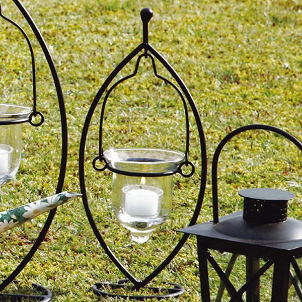 スウィングスタンド キャンドルホルダー ろうそく立て ガラス製 ( キャンドル 植木鉢 プランター キャンドルフォルダー フラワーベース 花器 インテリア 癒し リラックス ライト 灯器 )
