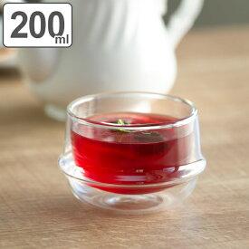 キントー KINTO ティーカップ 200ml KRONOS ダブルウォール 二重構造 保温 ガラス製 ( コップ グラス 保冷 電子レンジ対応 食器 食洗機対応 カップ ダブルウォールグラス デザートカップ カップ マグ )