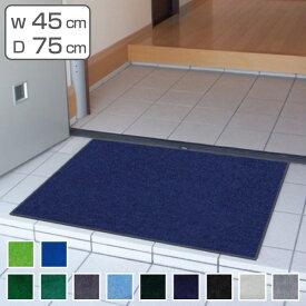 玄関マット 屋内用 スタンダードマットECO 45×75cm 寒色系 ( 業務用 室内 エントランスマット 洗える )