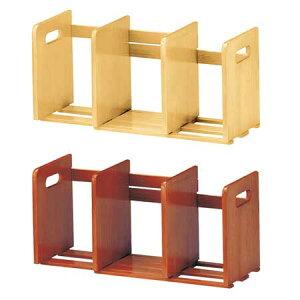 ブックスタンド 木製 スライド式 ( ブックエンド アンティーク ナチュラル ブラウン スライド おしゃれ 本立て 伸縮 マガジンラック 本棚 )