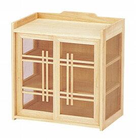和風蝿帳 桐( キッチン 収納 卓上 和風小物入れ 戸棚 桐 天然木 送料無料 )
