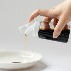 調味料入れ 液体専用ストッカー 酒 みりん ( 調味料ボトル 醤油差し 調味料ストッカー しょうゆ差し プラスチック 調味料容器 液体調味料 保存 容器 ボトル 入れ ディスペンサー クリア 透明 )