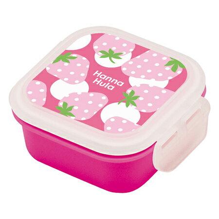 お弁当箱 デザートケース Hanna Hula ハンナフラ いちご 子供用 ( ミニケース フルーツケース 果物入れ 弁当箱 ランチボックス )