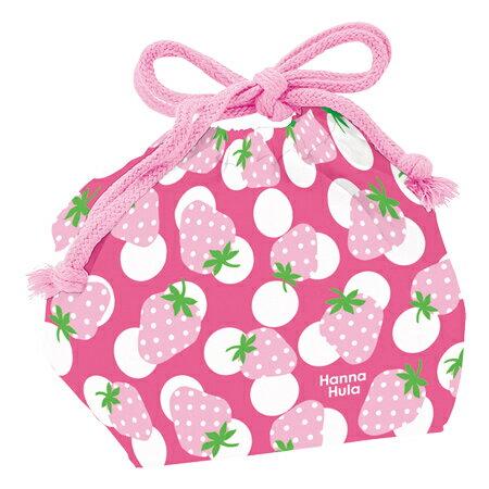 お弁当袋 ランチ巾着 Hanna Hula ハンナフラ いちご 子供用 ( 給食袋 ランチボックス巾着 子供用お弁当袋 )