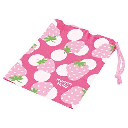 コップ袋 Hanna Hula ハンナフラ いちご 子供用 ( 子供用 給食 袋 子供用コップ )
