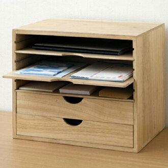 ■2段没有库存限度、进货的■A4文件情况木制A4旁边收藏箱抽屉