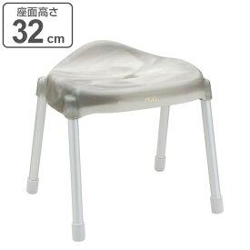 風呂イス バスチェア Defi アルミ ワイド 高さ32cm グレー ( 風呂椅子 風呂いす バスチェアー お風呂椅子 お風呂イス シャワーチェア カビ防止 銀イオン 高級感 アルミ 高さ 32cm 32 日本製 )