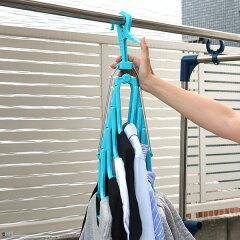 洗濯ハンガー新機能折りたたみ8連ハンガースライド