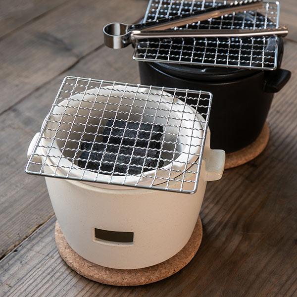 水コンロ ロロ LOLO 炭焼き水コンロ セット 小サイズ 陶器製 ( 送料無料 七輪 卓上コンロ 炭焼きコンロ 炭火焼きコンロ 炭焼き 炭火焼 BBQコンロ バーベキューセット プレゼント サリュウ SALIU )