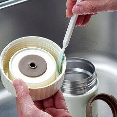 キッチンブラシ掃除用スティックフードポット中栓洗いお弁当洗い隊空気穴用1本中栓・パッキン洗い用2本