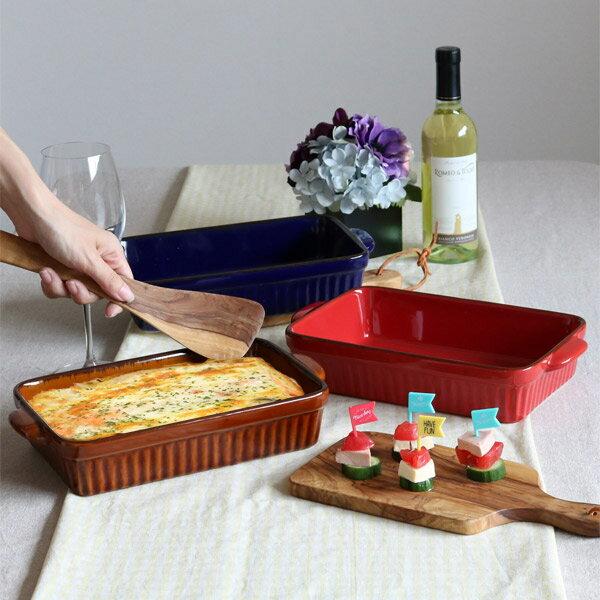 ラザニア皿 28cm 洋食器 スクエア ギャザー ( 大皿 陶器 電子レンジ オーブン グラタン グラタン皿 ラザニア 食器 器 皿 オーブンウェア オシャレ )