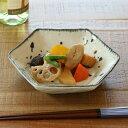 六角小鉢 和食器 呉須とばし 変形皿シリーズ 美濃焼 日本製 磁器 ( 食器 皿 和皿 食洗機対応 和風 電子レンジ…