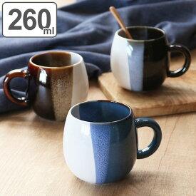 マグカップ 260ml ユニークマグ UNIQIE ラウンド 陶器 日本製 ( 電子レンジ対応 食洗機対応 マグ コーヒーカップ 食器 カップ タンブラー 和モダン おしゃれ )