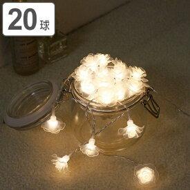 ガーランド ライト LEDスイッチライト ローズ 20球 ( デコレーション イルミネーション LED イルミネーションライト led 明るさ調節 点滅 電池式 飾り 電飾 ストリングライト バラ 誕生日 クリスマス 室内 )