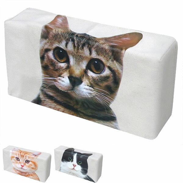 ティッシュケース ねこのティッシュケース ねこのしっぽ ( ねこ ネコ グッズ 猫 雑貨 ハチワレ かわいい おしゃれ ティッシュボックス ティッシュカバー ティッシュ ケース カバー キジトラ 茶トラ 茶トラ猫 リアル )