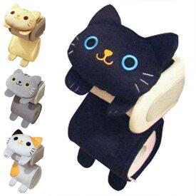 ペーパーホルダーカバー ねこのしっぽ ( トイレ トイレ用品 ネコ トイレ収納 トイレットペーパー 猫 キャット グッズ キャラクター ホルダー )