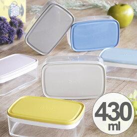 お弁当箱 保存容器 il mio Clear Pack Lunch L 日本製 スタッキング 430ml ( 弁当箱 電子レンジ対応 作り置き 長方形 フルーツ デザートケース ランチボックス シンプル おしゃれ 食洗機対応 イルミオ ilmio )