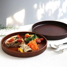 プレート 24cm SEE ディッシュプレート プラスチック 食器 皿 日本製 おしゃれ ( 電子レンジ対応 食洗機対応 木製風 大皿 木目調 割れにくい ワンプレート 仕切りなし お盆 カフェ風 )