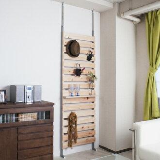 支撑架由柏树宽 60 厘米 (天花板绷紧衣架机架扁柏的墙壁存储显示) P19Jul15