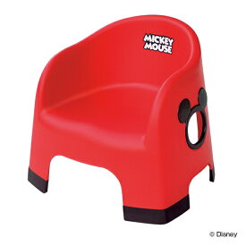 ローチェア ミッキーマウス ベビー プラスチック製 日本製 ( ベビーチェア 赤ちゃん 子供 椅子 ディズニー キャラクター ミッキー キッズ イス キッズチェア 滑り止め 安全 音 鳴らない 背もたれ )