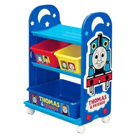 おもちゃ 収納ラック 3段 きかんしゃトーマス トイステーション ( 送料無料 収納 棚 収納ボックス おもちゃ箱 キャスター付き おもちゃ 絵本 ラック お片付け 子供部屋 トーマス 機関車トーマス )