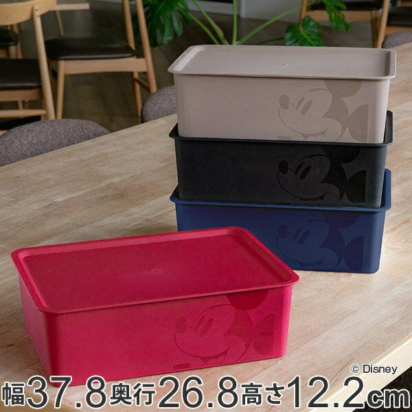 収納ボックス ふた付き レギュラーサイズ ミッキーマウス スクエアBOX ( 収納ケース 収納 小物入れ カラーボックス 小物 ボックス スタッキング 積み重ね インナーボックス プラスチック フタ付き 箱 ディズニー Disney ミッキー )