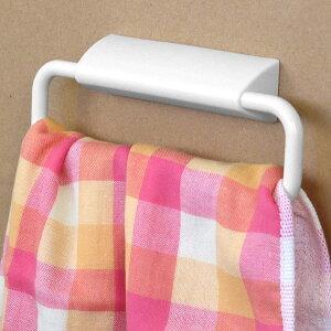タオルハンガー はってはがせる タオルかけ ワイド ( タオルホルダー タオル掛け 洗面 キッチン 手拭き ふきんかけ 収納 バス用品 サニタリー )