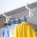 室内物干しフック クロスフック 2個組 鴨居・ドア枠用 伸縮ポール付 洗濯物干し ( 部屋干しフック 室内干しフッ…